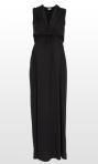 Maxi knotted evening dress