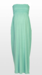 Minty smocked maternity maxi dress